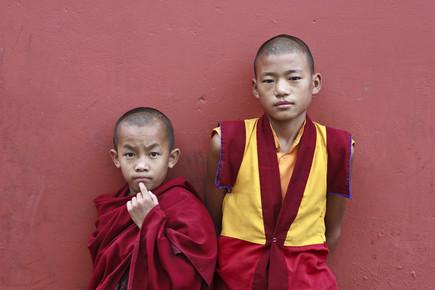 Jagdev Singh, Zwei süße Mönche in Frieden (India, Asia)