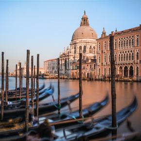 Jean Claude Castor, Venice - Santa Maria Della Salute with Gondolas (Italy, Europe)