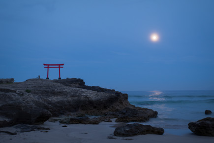 Manuel Kürschner, Torii at full moon (Japan, Asia)