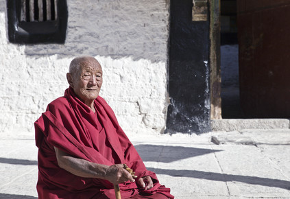 Victoria Knobloch, Monk at Sera Monastery (China, Asia)