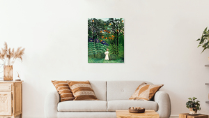 Jungle Wall Art Henri Rousseau: Woman Walking in an Exotic Forest Digital Print French post-impressionist painting 20th century painting