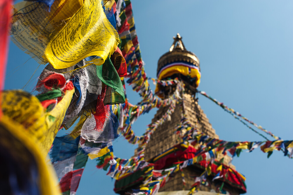 Stupa in Kathmandu - fotokunst von Michael Wagener