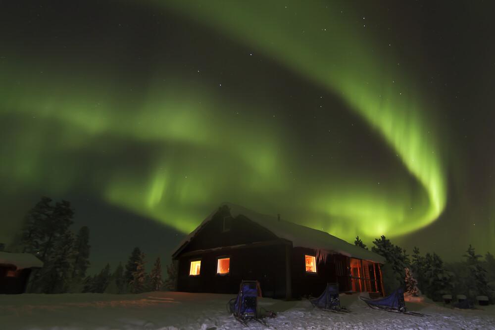 Nordllichter Aurora Borealis   Fotokunst von Stefan Blawath