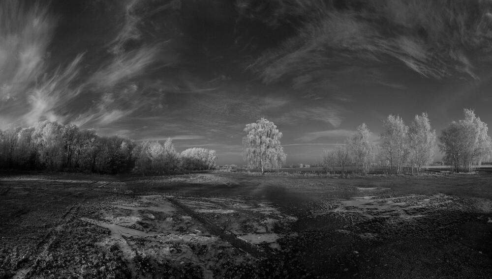 Eisiger Solitär - fotokunst von Arne van Au