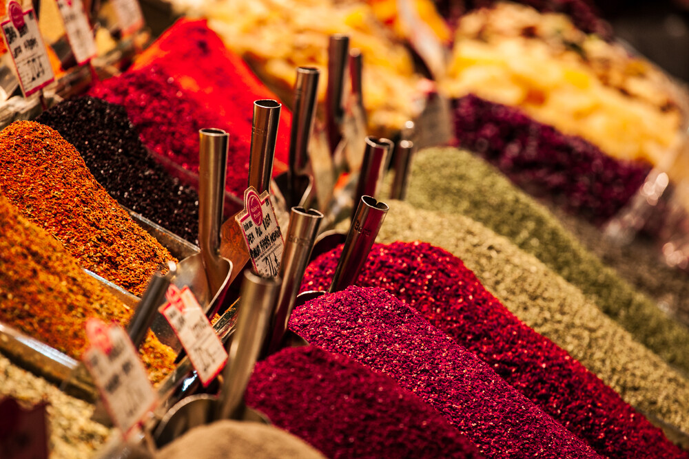 spices all in a row - Fineart photography by Philipp Langebner