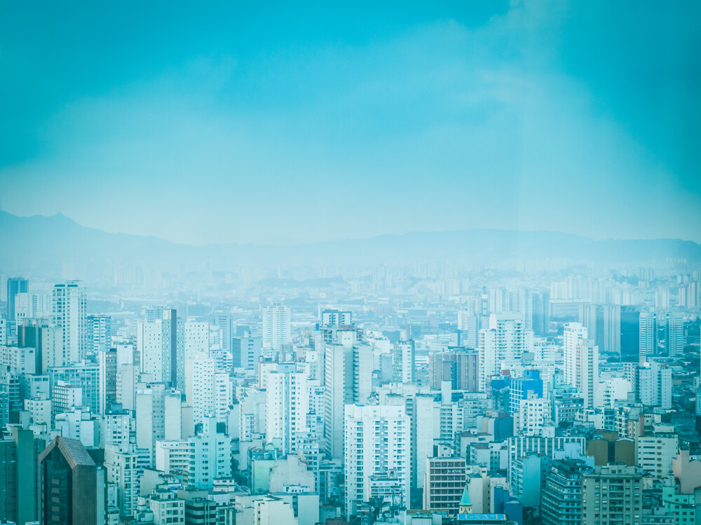 City in Blue 3 - Fineart photography by Johann Oswald