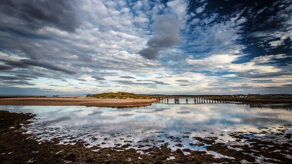 Foot bridge over river Lossie - Lossiemouth (Scotland) - Fineart photography by Jörg Faißt