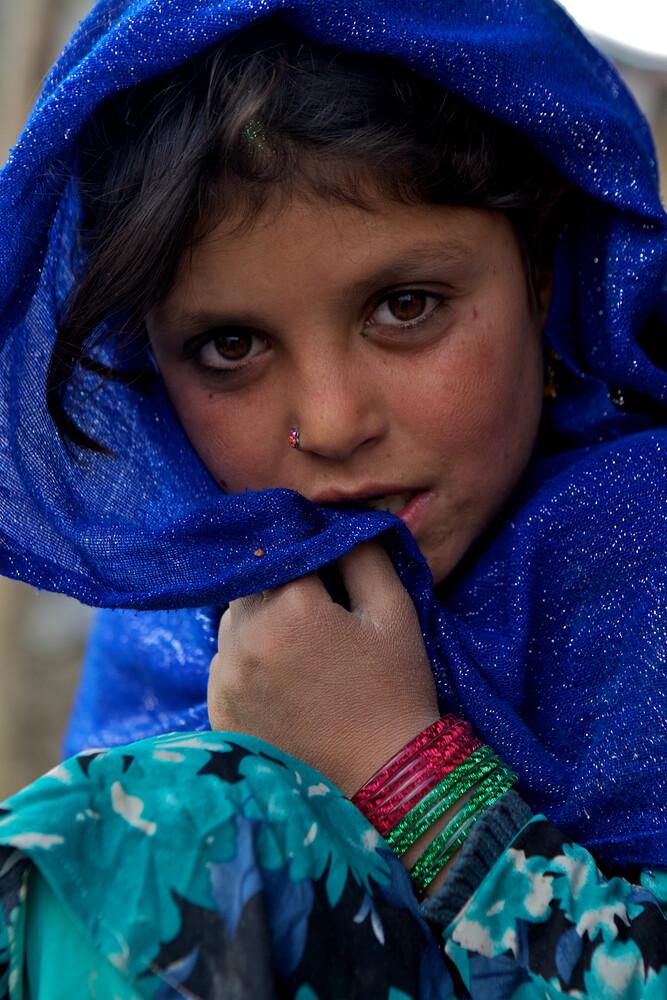 Refugee girl, Kabul - fotokunst von Christina Feldt