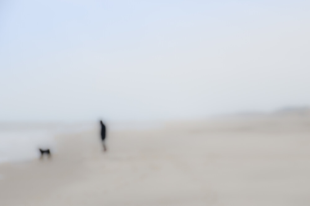 Mann mit Hund - fotokunst von Gregor Ingenhoven