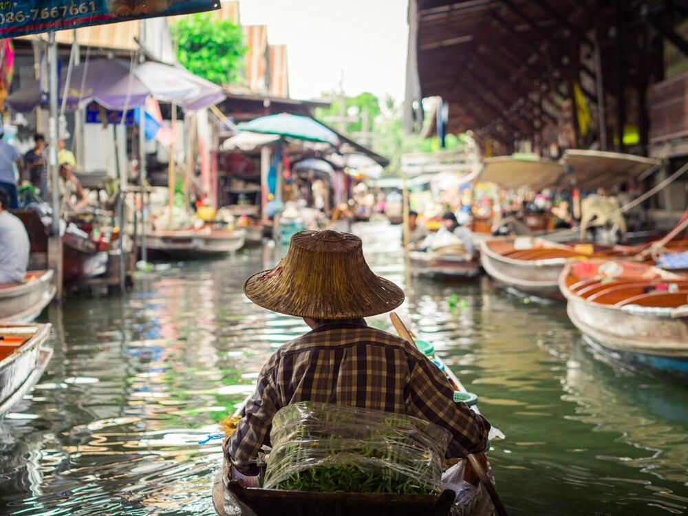 Damnoen Saduak Floating Market 2 - fotokunst von Johann Oswald