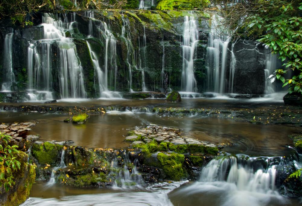 Purakaunui Falls - Neuseeland - fotokunst von Roland Heine