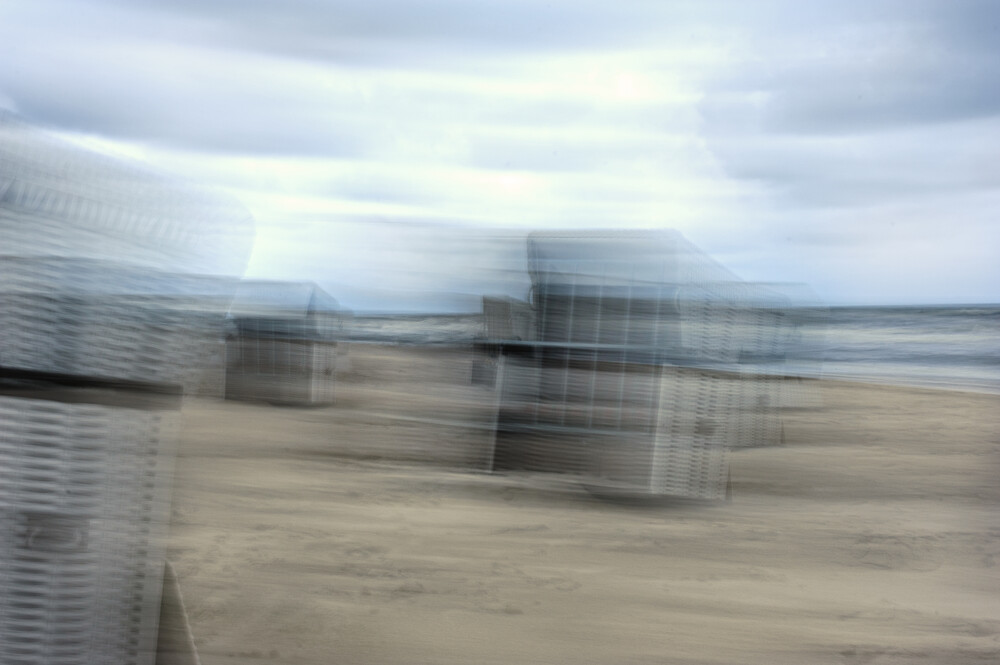 Strandkorb an der Ostsee - fotokunst von Alexander Barth