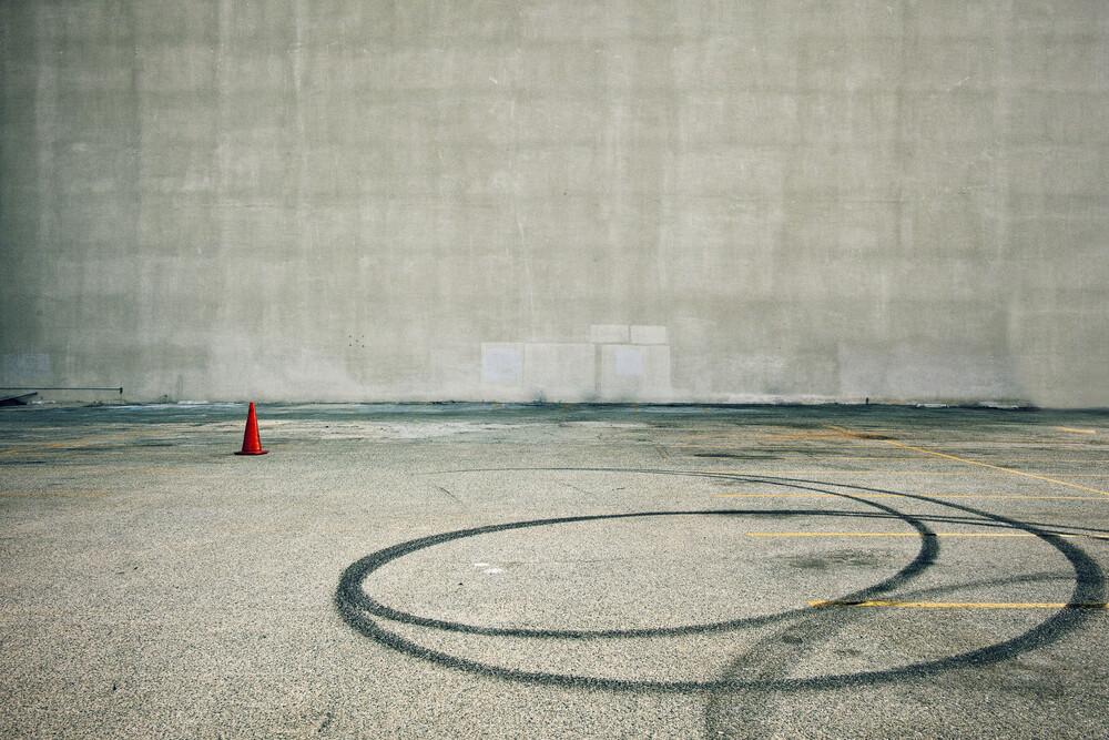 Parking (with Orange Cone) - fotokunst von Jeff Seltzer