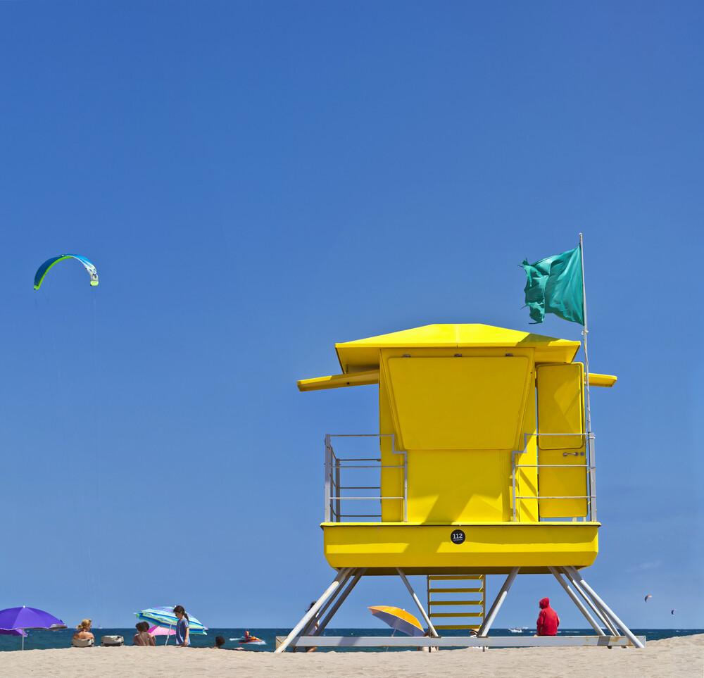 Life Guard Tower - fotokunst von Markus Schieder
