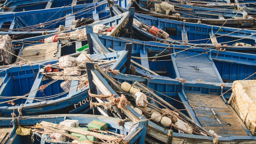 Fishing Boats - fotokunst von Chris Blackhead