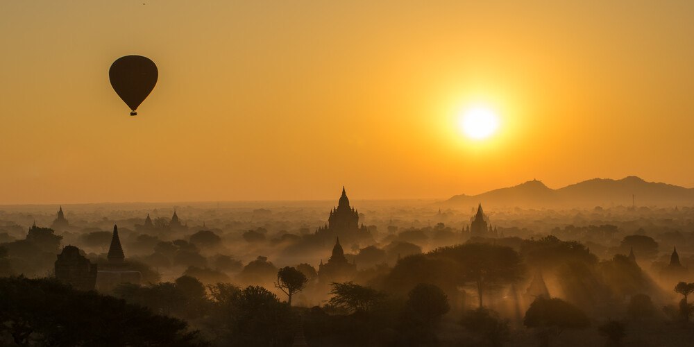 Bagan Orange - Fineart photography by Philipp Weindich