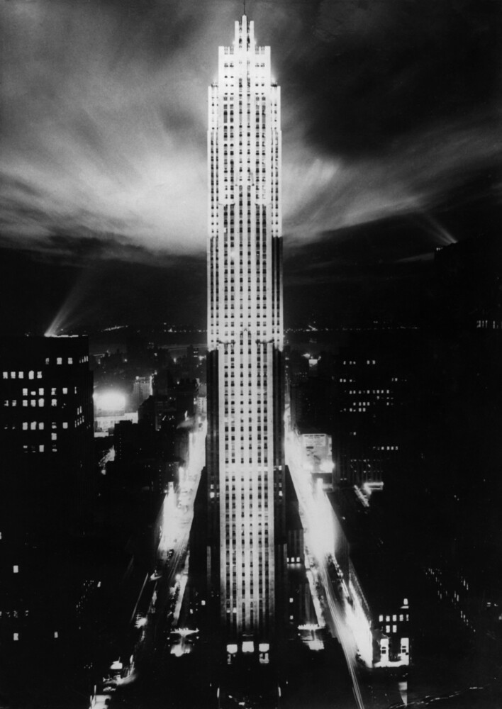 Rockefeller Center bei Nacht - fotokunst von Süddeutsche Zeitung Photo