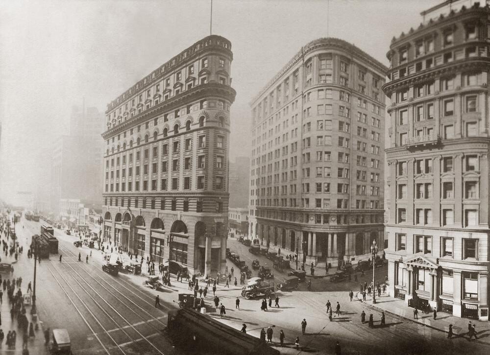 Bankenviertel in San Francisco - fotokunst von Süddeutsche Zeitung Photo