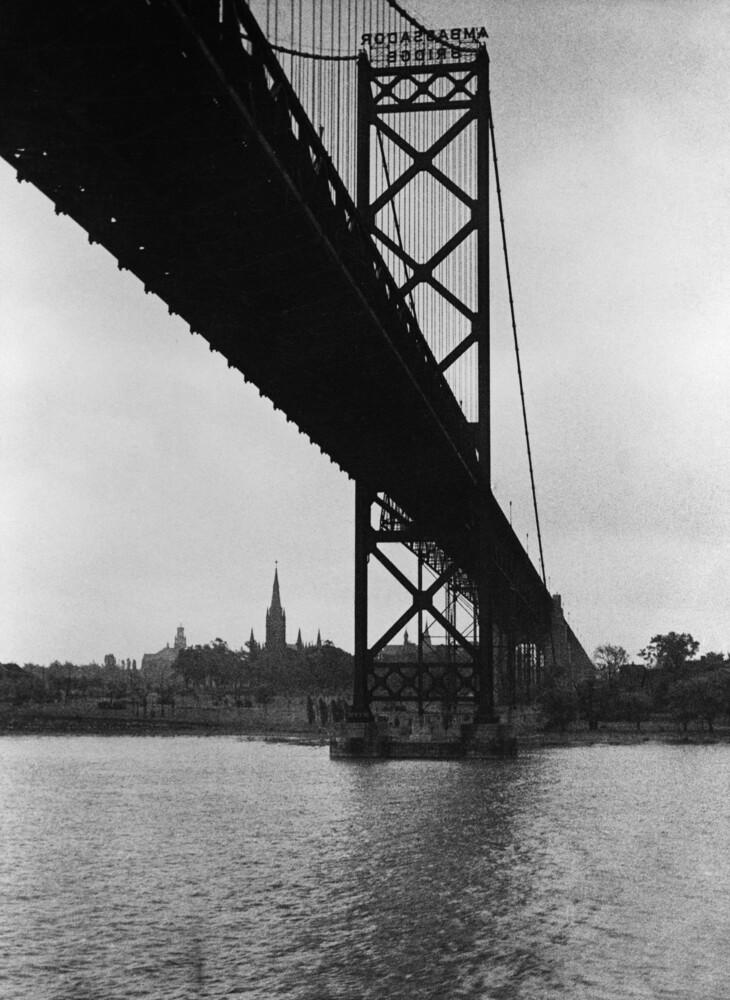 Ambassador Bridge in Detroit - fotokunst von Süddeutsche Zeitung Photo