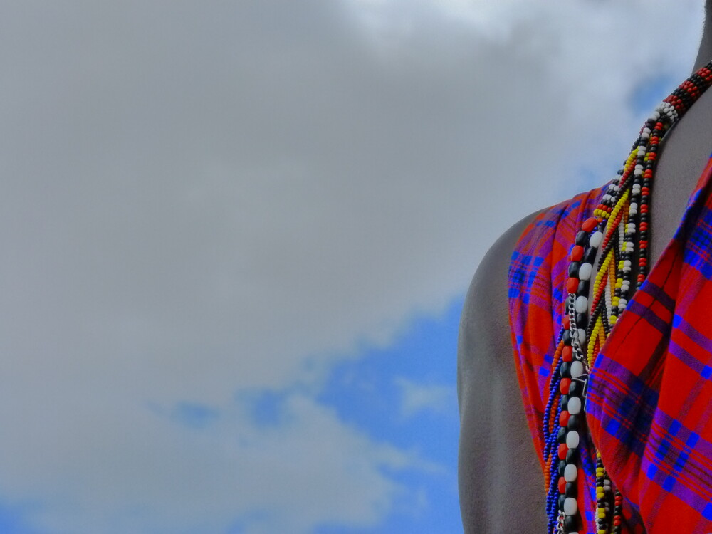 Masai on the sky - Fineart photography by Clara García-Carrillo