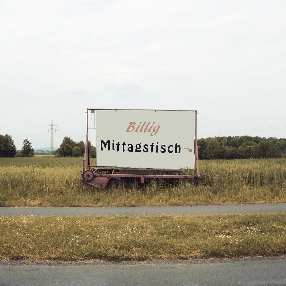 Billig Mittagstisch - Fineart photography by David Foster Nass