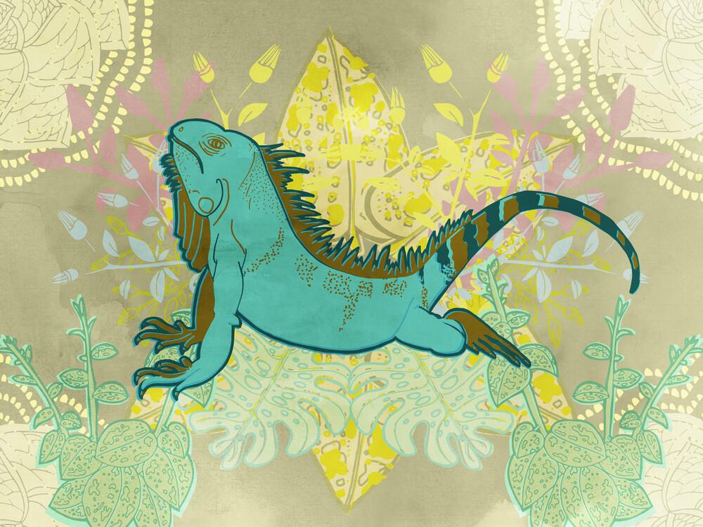 Iguana - fotokunst von Catalina Villegas