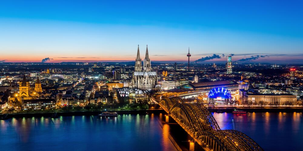 Köln Skyline - fotokunst von David Engel