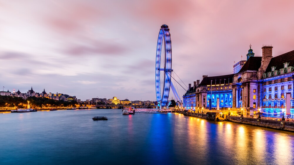 London Eye und Themse - Fineart photography by David Engel
