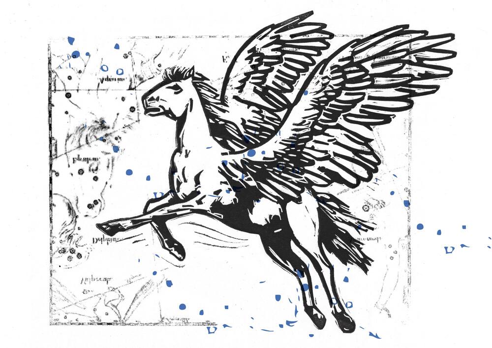 Pegasus - fotokunst von Amalia Caratozzolo