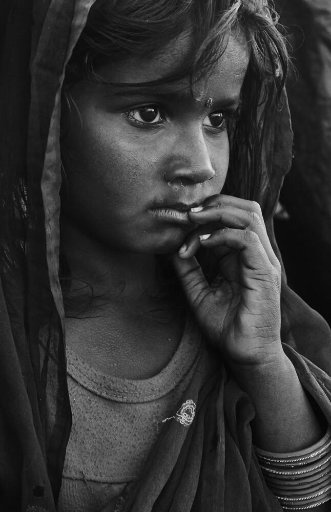 The girl from Kathmandu - fotokunst von Jan Møller Hansen