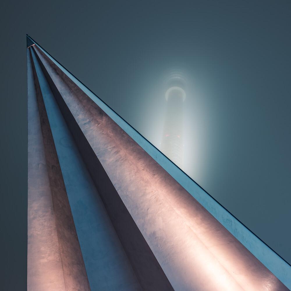 Berlin - TV Tower Spotlight II - Fineart photography by Jean Claude Castor