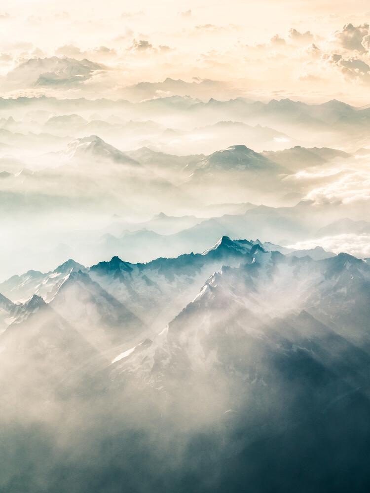 Über den Französischen Alpen 1 - fotokunst von Johann Oswald