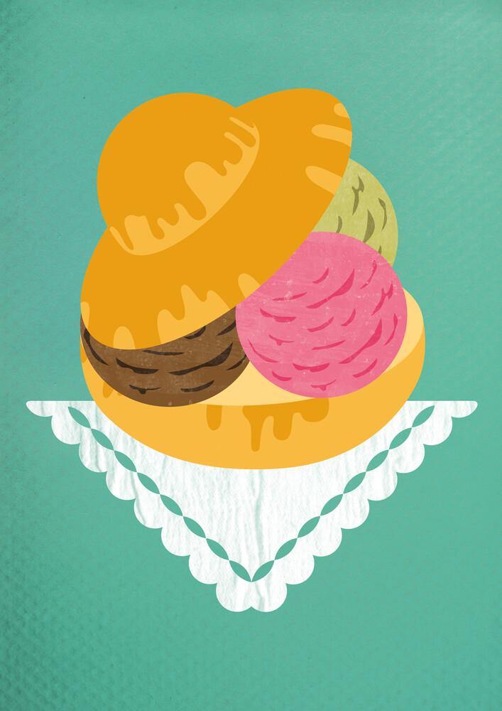 Brioscia col gelato - fotokunst von Angela Capillo