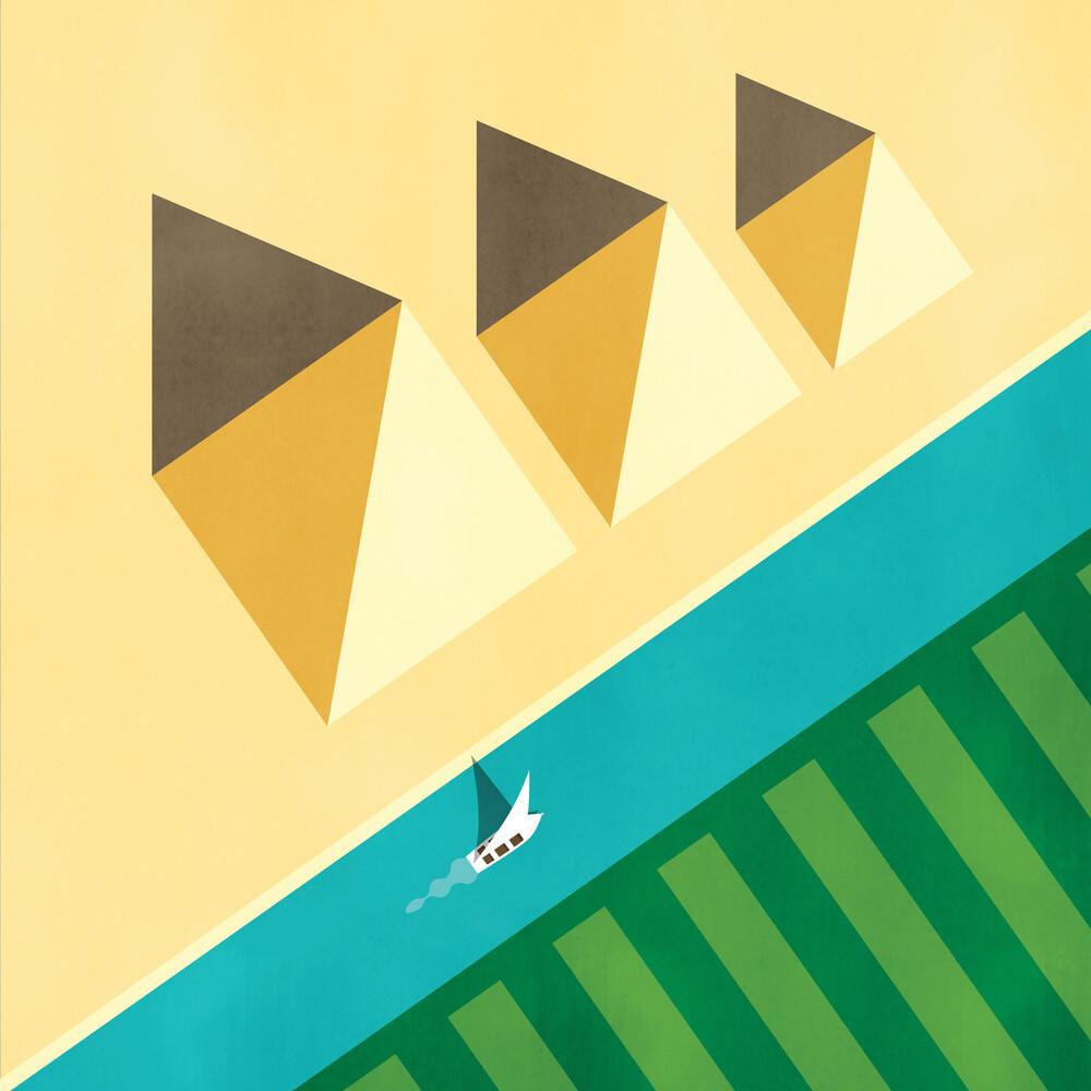 Passing by the Pyramids - fotokunst von Samer Khodeir