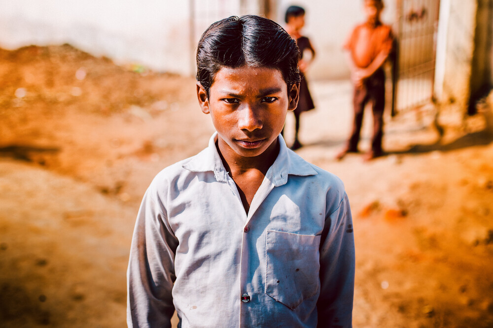 India Boy - Fineart photography by Oliver Ostermeyer