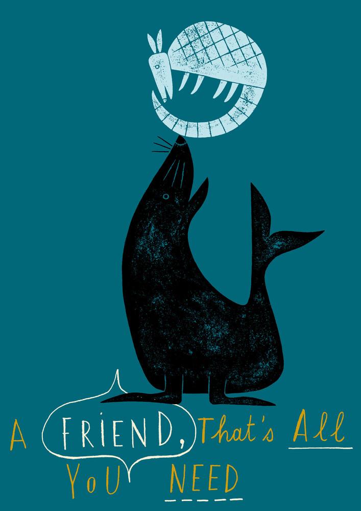 A friend is all you need - fotokunst von Jean-Manuel Duvivier