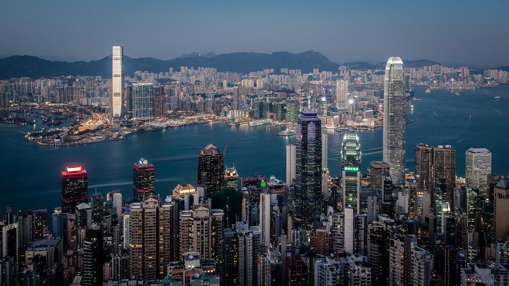 Hongkong Skyline - fotokunst von Sebastian Rost