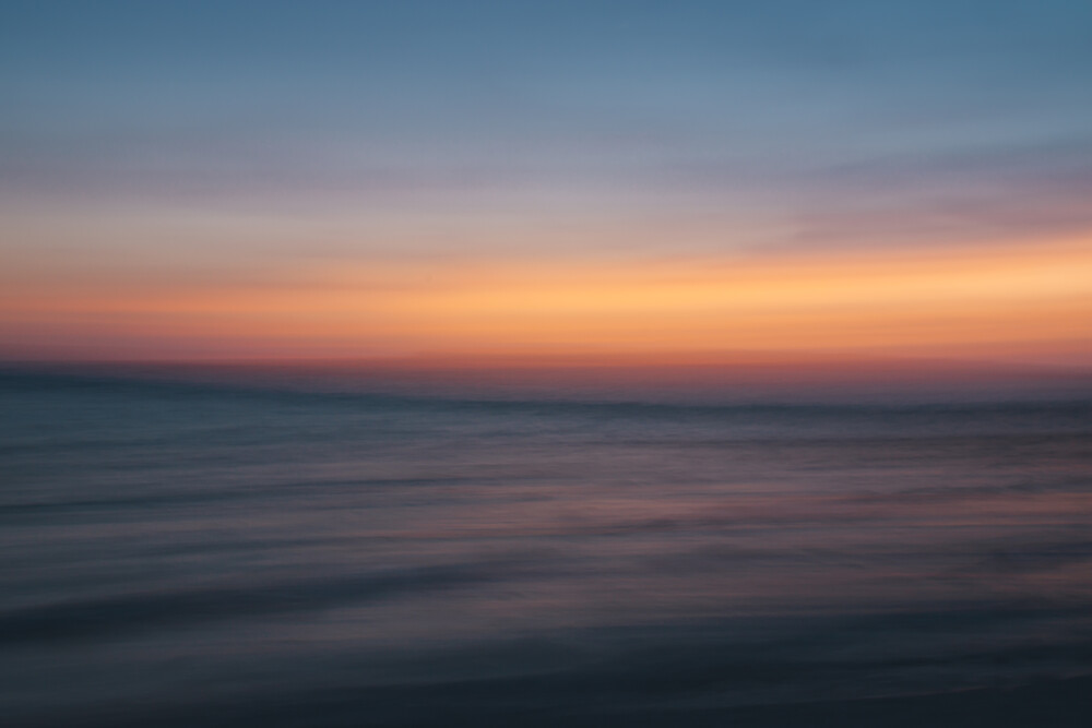 Sonnenuntergang am Mittelmeer - abstrakt - fotokunst von Nadja Jacke