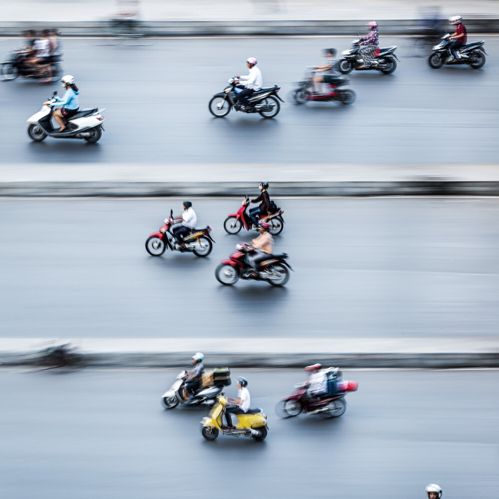 Moped Riders #2 in Hanoi - Fineart photography by Jörg Faißt