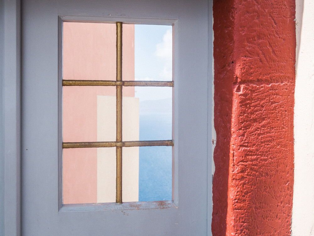 Minimalistic Santorini - 20 - fotokunst von Johann Oswald