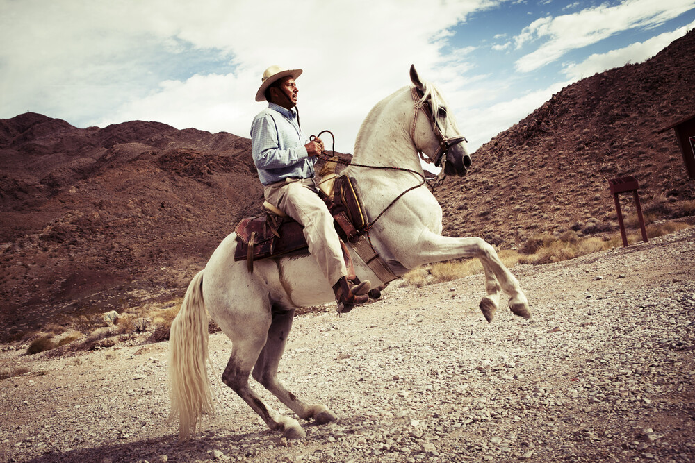 cowboy - fotokunst von Florian Büttner