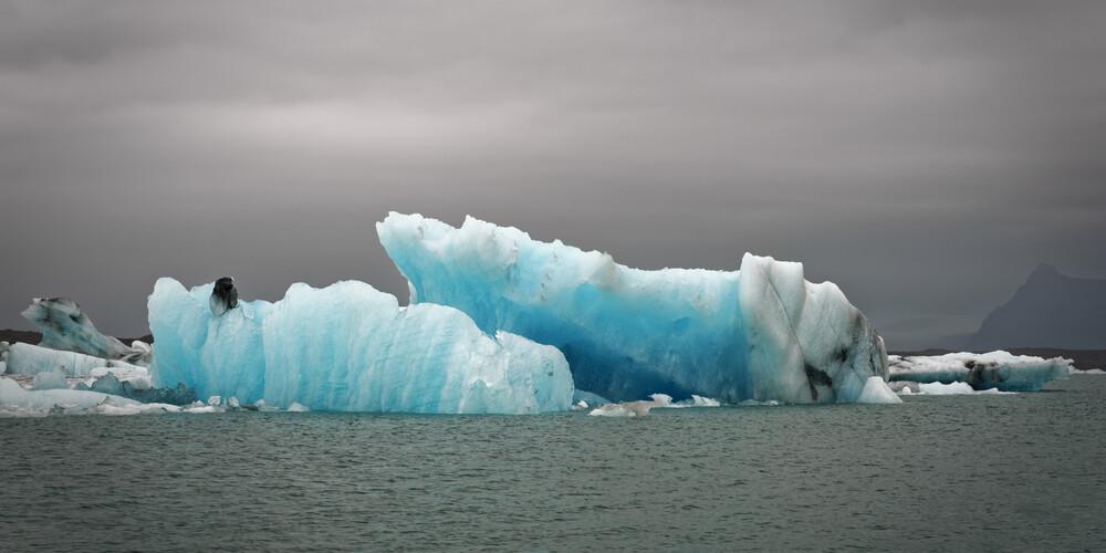 Eisberge auf dem Gletschersee in Joekulsarlon - fotokunst von Norbert Gräf