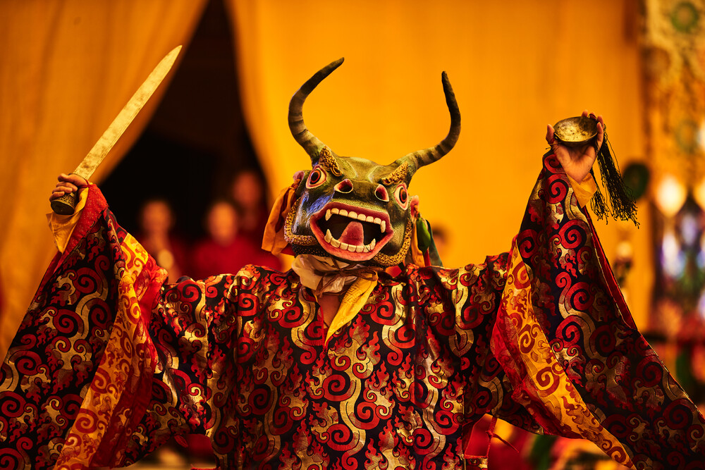 Buddhist dance - Fineart photography by Jan Møller Hansen