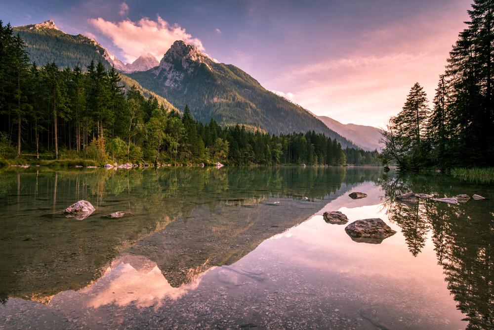 Hintersee bei Sonnenuntergan - fotokunst von Stefan Schurr