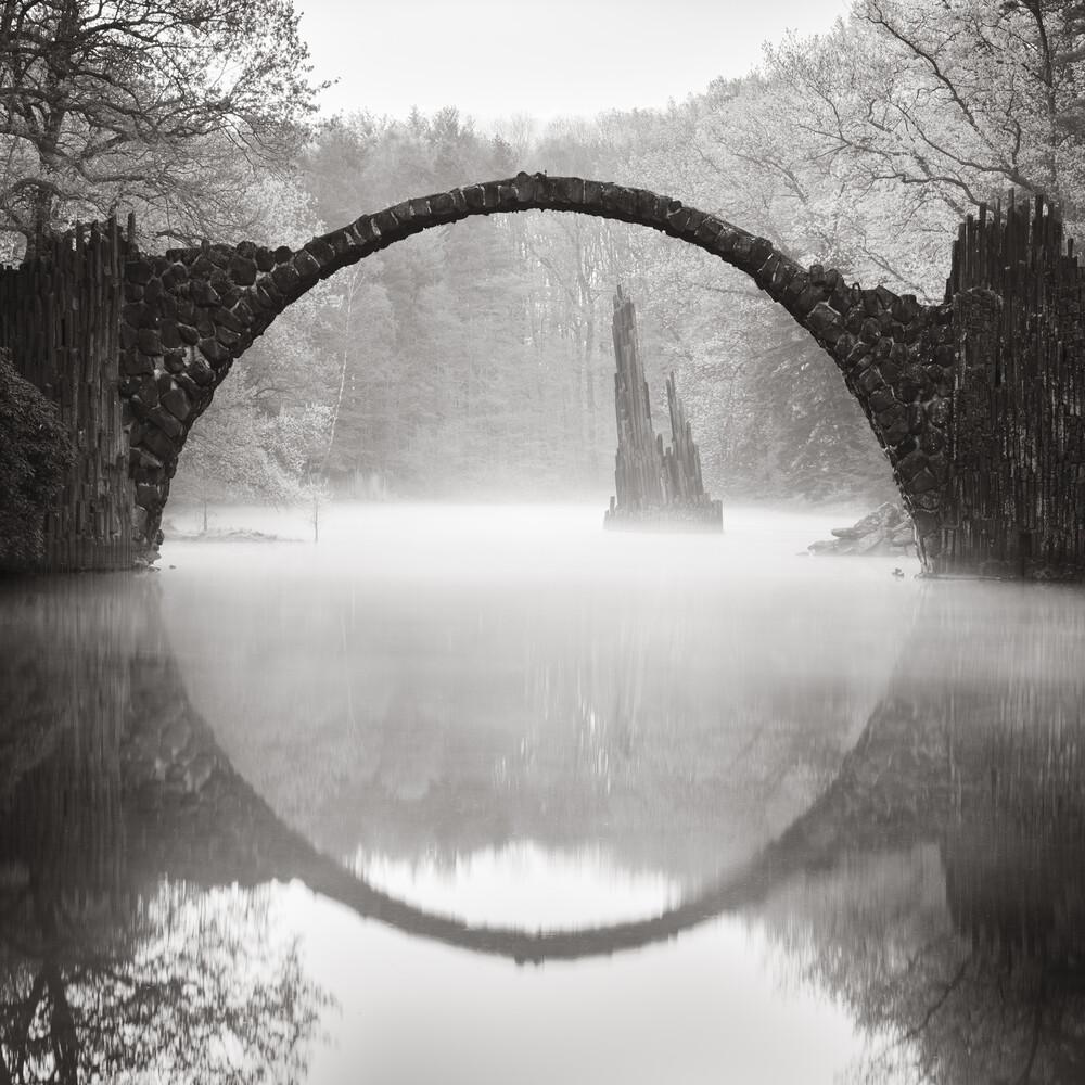 Rakotzbrücke im Nebel - Fineart photography by Ronny Behnert