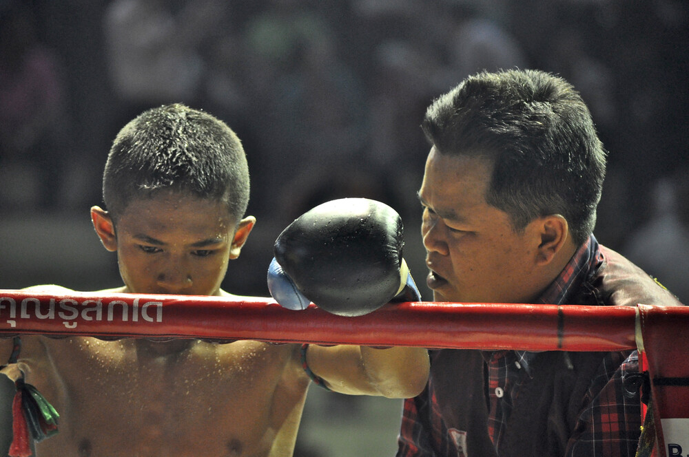 Muay Thai with coach - Fineart photography by Thomas Heinrich