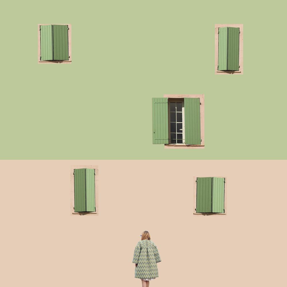 Pastel Grid - fotokunst von Caterina Theoharidou