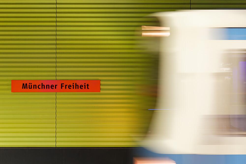 Münchner Freiheit - fotokunst von Michael Belhadi