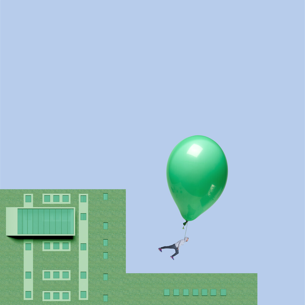 Balloon in the air - Fineart photography by Caterina Theoharidou