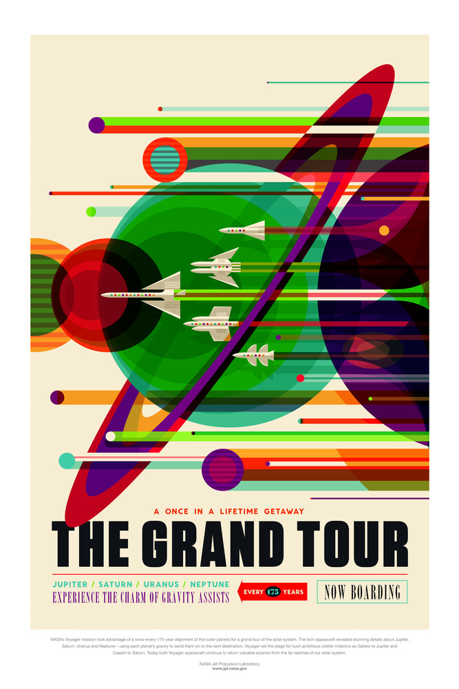 The Grand Tour, experience the charm of gravity assists - fotokunst von Nasa / Jpl - Visions Of The Future